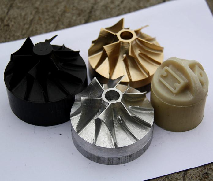 育能小型五轴加工中心叶轮加工
